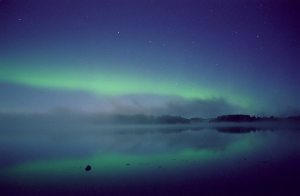 Aurora over Valkeakoski, Finland, September 15, 2000